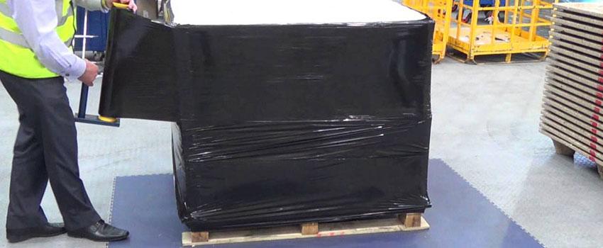 Black pallet wrap | Safe Packaging UK